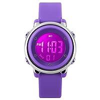 9b2592a8c373 Relojes deportivos digitales para niñas Yesure. Reloj deportivo impermeable  de 5 ATM con cronómetro de alarma