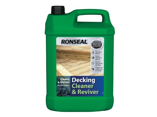 Ronseal DC Decking Cleaner 5 Litre - Although you do not have to dilute the concentration, you will be able to get the best out of the solution but it best done when combined with a scrubbing brush. It deals with more than removing dirt but also removes moss, mould, mildew, fungus and algae.