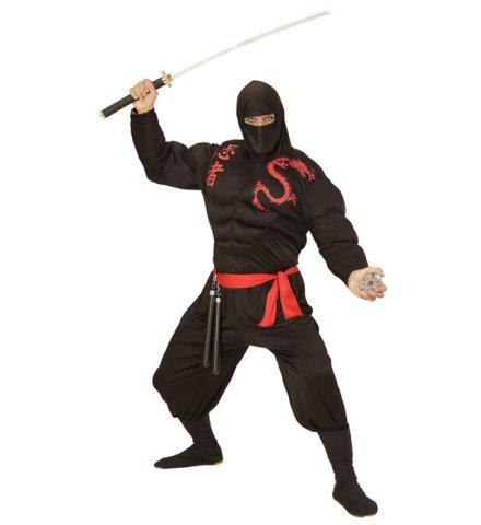 Dschungel Kostüm Ninja - Muskel Ninja Kostüm für Erwachsene Größe XL