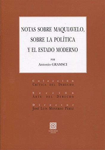 Notas sobre Maquiavelo, sobre la política y el estado moderno por Antonio Gramsci
