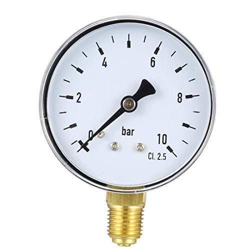 ZCHXD Bottom Mount Pressure Gauge, 10 Bar, 2.4