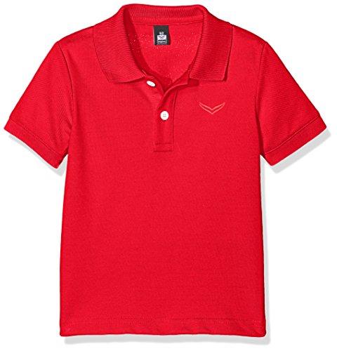 Trigema Unisex Baby Poloshirt Polo-Shirt Piqué-Qualität, Rot (Kirsch 036), 80