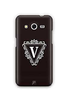 YuBingo Monogram with Beautifully Written letter V Mobile Case Back Cover for Samsung Galaxy Core 2