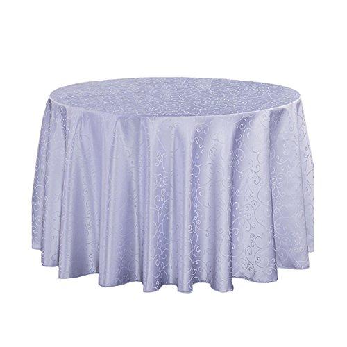 LSHEL Nappe Ronde en Polyester Anti-lâche - Imprimé Nappe de Crochet de Table 120*180cm Blanche-neige