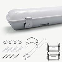 GOGO Go Tri Proof LED 0.66 M 120 cm IP65 LED 18 W 36 W bianco luce soffitto dal buona qualità garanzia 2 anni certificato CE e RoHS, Plastica, 66CM 18W 18.00 watts 230.00 volts
