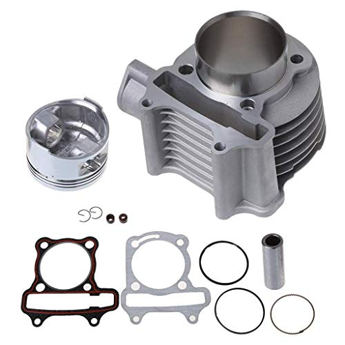 XZANTE Big Bore - 52,4 Mm - Motorrad Motor Laufen Zylinder Kit - Für GY6-125 (Gy6 Big Bore Zylinder Kit)