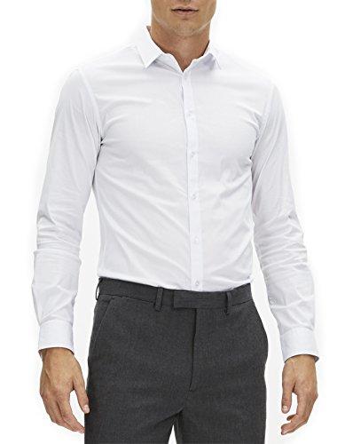 Celio Herren, Businesshemd, Jasantal2 Weiß