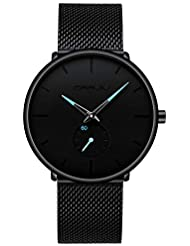 CRRJU Nouvelle Montre pour Hommes Occasionnelle Montre de Mode Montre Populaire Quartz Intelligente Horloge Bracelet Smart Watch de la Mode