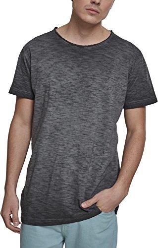 Urban Classics Herren T-Shirt Cold Dye Slub Tee, Schwarz (Black 00007), XXXX-Large (Herstellergröße: 4XL) (T-shirt Crewneck Slub)