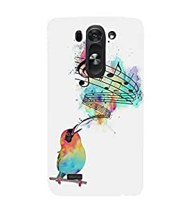 FUSON Creative Sparrow With Music 3D Hard Polycarbonate Designer Back Case Cover for LG G3 S :: LG G3 S Duos :: LG G3 Beat Dual :: LG D722K :: LG G3 Vigor :: LG D722 D725 D728 D724