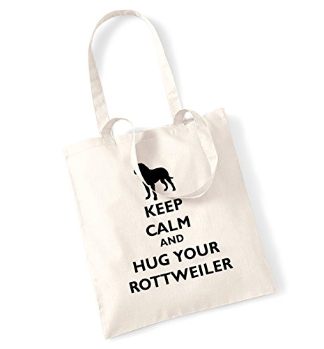 Keep calm and hug La borsa di rottweiler Natural
