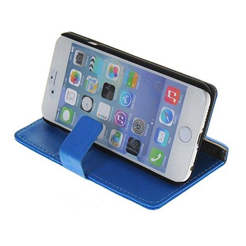 MOONCASE Coque en Cuir Portefeuille Housse de Protection Étui à rabat Case pour Apple iPhone 6 ( 4.7 inch ) Blanc Bleu