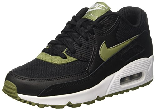 Nike Wmns Air Max 90 Prem, Entraînement de course femme Noir (Black/palm Green/white/mtlc Silver)
