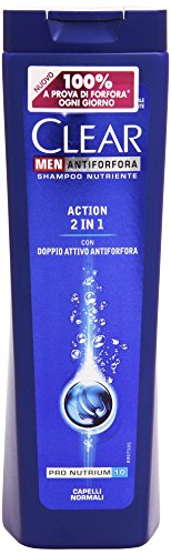 Clear - Shampoo Antiforfora Nutriente, per Uomo, Capelli Normali - 250 ml