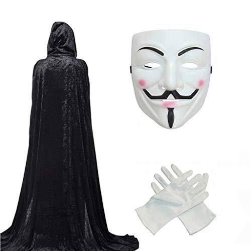 (Halloween Death Cloak, EIN weißer Geist Maske Teufel Kostüm Party Adult Party Umhang (Farbe : Weiß))