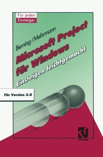 Microsoft Project f????r Windows: Einsteigen leichtgemacht (German Edition) by Udo Berning (1992-01-01) par Udo Berning