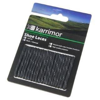 Lacci Da Scarpe Karrimor - Scarpa 120cm, Nero/Carbone (Boot Wildleder Kalb)