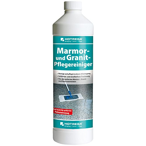 HOTREGA Marmor und Granit Pflegereiniger, Marmor-Reiniger Konzentrat Flasche 1 L