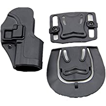 haoYK Tactical Airsoft Pistol Concealment Draw Right Handded Paddle cintura cinturón Holster bolsa para H & K USP compacto (Negro)