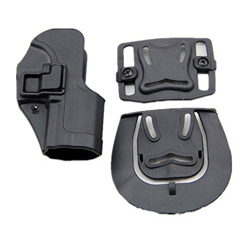 haoYK Taktische Airsoft Pistole Concealment Ziehen Rechtshänder Paddle Gürtel Holster Tasche für H & K USP Compact (Schwarz)