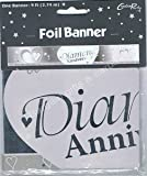 Creative Party 9Ft Diamond Anniversary Foil Banner,60Th Wedding Anniversary Party Decorations