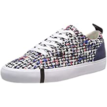 ARMANI EXCHANGE Denim Multicolor Lace Up Sneaker Scarpe da Ginnastica Basse  Donna b7d51c43948