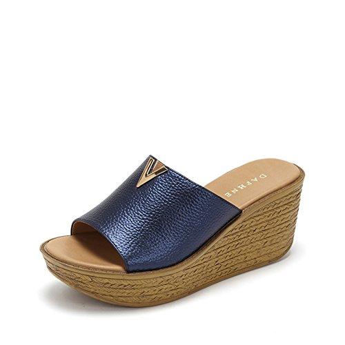 comfort tessere pantofole/Elegante metallo piattaforma peep-toe scarpe B