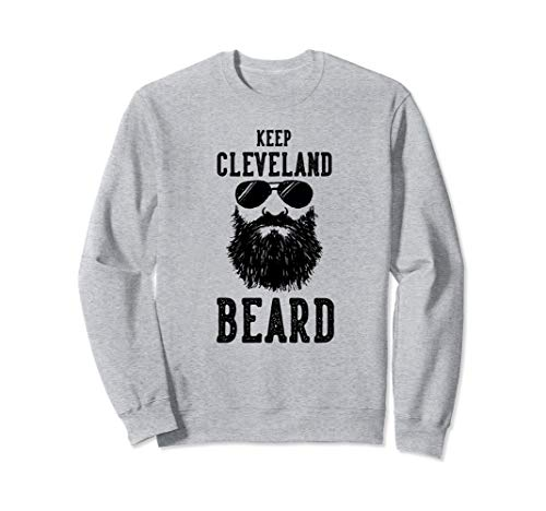 Keep Cleveland Ohio BEARD Funny Hipster Retro  Sweatshirt Ohio-retro-sweatshirt