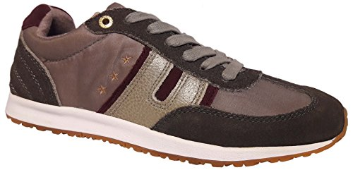 Pantofola d'Oro Acadia Low Donna Pelle Sneakers Used Look taupe gray