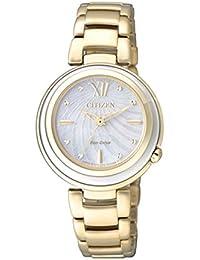 Citizen Damen-Armbanduhr XS Citizen L Analog Quarz Gold EM0336-59D