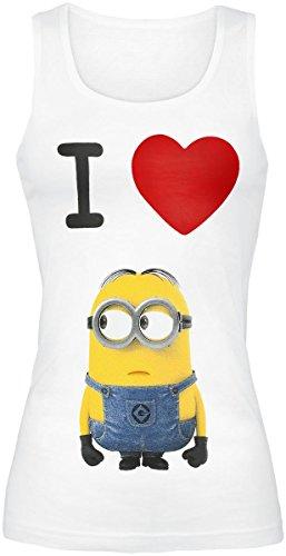 Gru 2, mi villano favorito - camiseta I love minions sin mangas - algodón -...