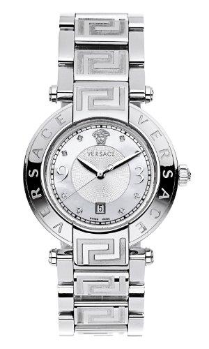 Versace 68Q99SD498 S099 - Reloj analógico de cuarzo unisex, correa de acero inoxidable color plateado