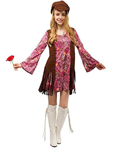SEA HARE Erwachsene Damen 60er 70er Jahre Hippie Kostüm -