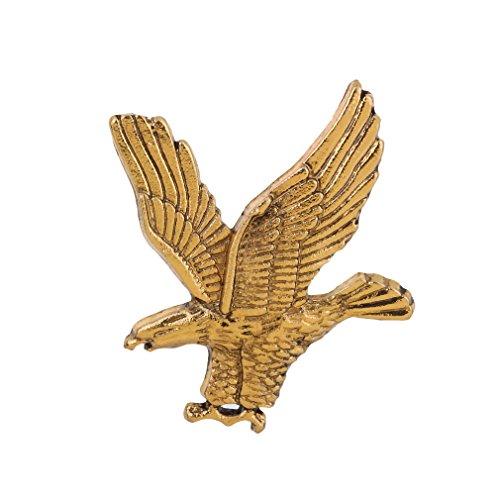 Yazilind Brosche Jewel Retro Eagle Form Buttons Für Ihren Freund Freund Golden