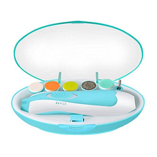 Baby Nagelfeile Alture Elektrische Maniküre-Set Polieren Disc, Lift Nagelhaut, perfekt Hände und Füße, Blau