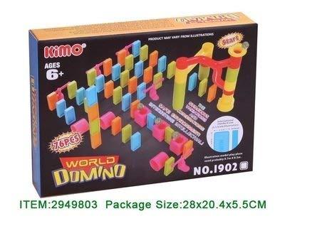Allkindathings bt709719Kids World Marmor Run Race Domino Kit Kinder Spielzeug Creative 76Stück (Domino-spiel Kit)