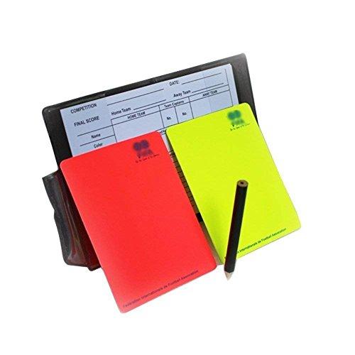 Kit de árbitro de fútbol A-NAM, con libreta, tarjetas roja y amarilla y hojas de notas
