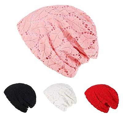 TITAP ????Clearance ????Women Hollow Out 100% Cotton Ruffle Cancer Chemo Hat Beanie Turban Head Wrap Cap