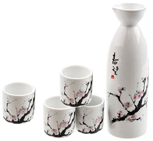 Happy Sales HSSS-SBC00, Cherry Blossom Japanese Sake Set by Happy Sales Cherry Blossom Sake Set