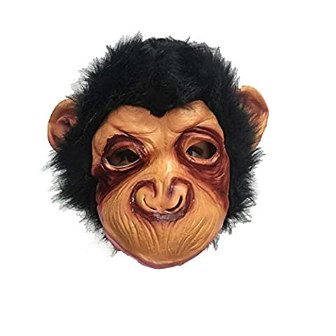 HiMqhy Chimpanzé Masque Halloween coiffures Hommes et femmes Ambiance Horreur Film jouet singe partie Maquillage
