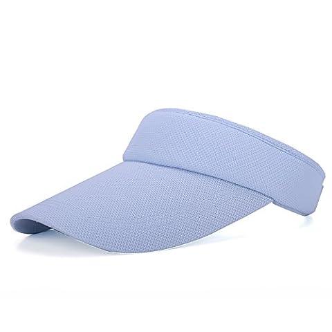 Chapeau d'été, hommes et femmes Top Hat Hat Summer vide extérieure bien Hat Baseball Cap Taille ajustable de l'écran solaire casquette. Bleu réglable