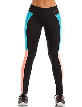 Mallas Deportivo Mujer Leggins Yoga Pantalon Elastico Cintura Altura para Running Pilates Fitness