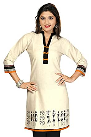 Desi Aura Women's Cotton Long Straight Kurti(DAK0267_MULTI-COLOURED_5X-LARGE)