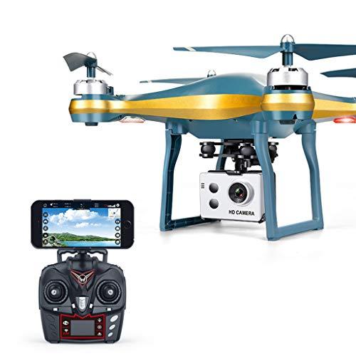 bloatboy RC Quadcopter, GPS Quadrocopter, WiFi FPV 720P Weitwinkel HD Kamera, HD-Luftaufnahmen Folgen Automatisch Drohne (Gold)