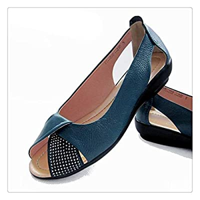 FJLOKE& Summer Women Genuine Leather Platform Sandals Open Toe Mother Wedges Sandals