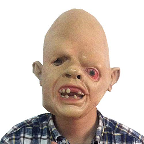 Knochen Kopf Kostüm Durch - Bnmgh Glatzköpfiger Mann Mit Einem Auge Terror Horror Maske Scary Kostüme Cosplay für Neuheit Zombie Haunted House Party Halloween Dekoration