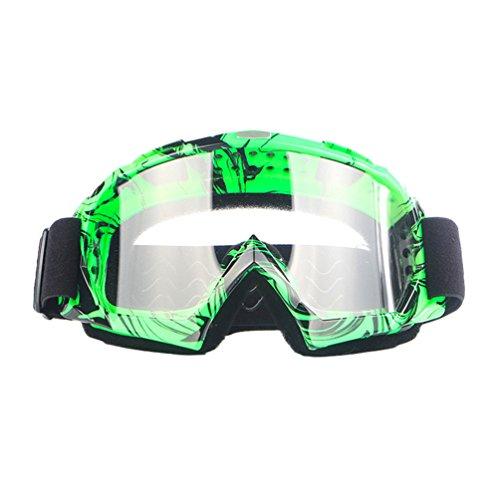 Dexinx Unisex Ski Anti-UV Schutzbrillen Komfortable Dauerhafte Off-Road Goggle Im Freien Grünes - Frauen-ski-schutzbrillen Grün