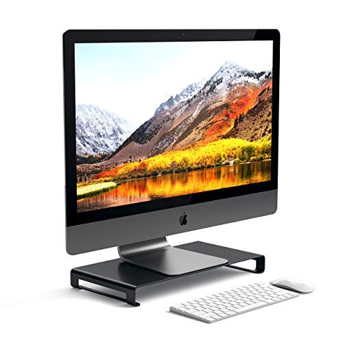 SATECHI Universal-Unibody-Monitor-Ständer - Kompatibel mit 2017/2018 MacBook Pro, iMac Pro, Google Chromebook, Microsoft Surface Go, Dell, Asus und Anderen (Schwarz) (Monitore, Pro Computer, Macbook)
