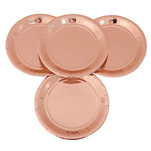 PETSOLA 10 Stücke Pappteller Einweg Kuchen Platten Tabletts für Baby Shower - 18 cm