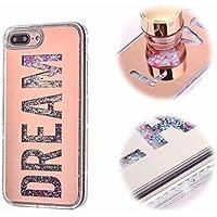 iPhone 8 Plus Funda Carcasa, MingKun Espejo Dream Cover para iPhone 7 Plus/iPhone 8 Plus 5.5 Pulgada Fundas Bling Caso Flexible Case Cover Bumper